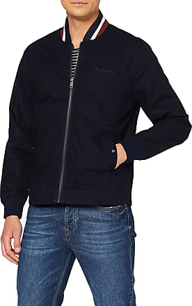 Ben Sherman Mens Ripstop Bomber Jacket, Blue (Dark Navy 25), X-Large (Size:XL)