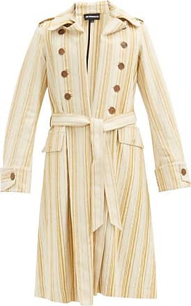 Ann Demeulemeester Striped Cotton-blend Twill Trench Coat - Mens - Beige