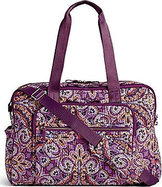 Vera Bradley Iconic Deluxe Weekender Travel Bag, Signature Cotton, dream tapestry