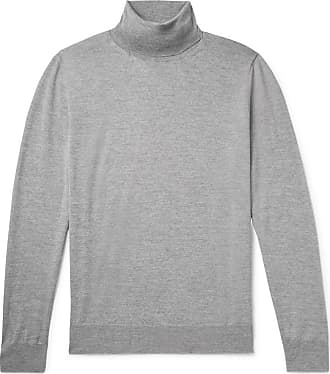 Canali Mélange Merino Wool Rollneck Sweater - Gray