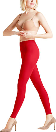 Falke Womens Pure Matt 50 den LE Leggings, Red (Lipstick), 10