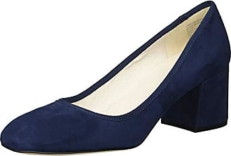 Kenneth Cole Womens Eryn Low Heel Square Toe Dress Pump, Navy Suede, 6.5 M US
