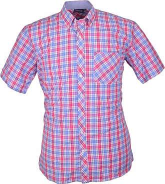 Espionage Blue Short Sleeve Shirt SH248 2XL To 6XL
