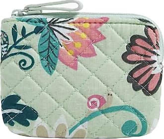 Vera Bradley Iconic Coin Purse in Mint Flowers Signature Cotton