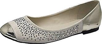 Saute Styles Ladies Flat Women Diamante Ballerina Loafers Dolly Pump Ballet Slip On Shoes 3-8