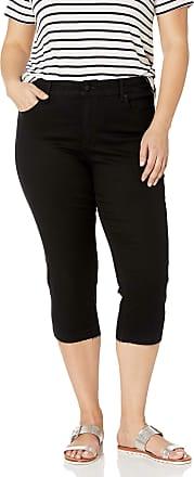 NYDJ Womens Plus Size Capri Released Hem Jeans, Black, 16W