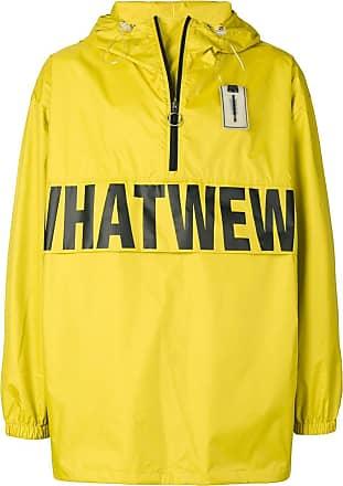 WWWM - What We Wear Matters Jaqueta com logo e capuz - Amarelo