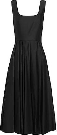 A.W.A.K.E. A.w.a.k.e. Woman Pleated Satin-jersey Dress Black Size 34