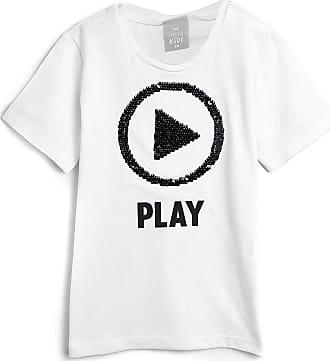 Hering Kids Camiseta Hering Kids Infantil Paetê Duplo Off-White