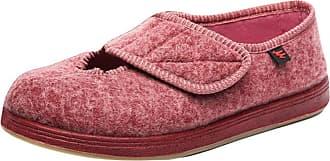 Insun Unisex Wide Width Walking Shoes Adjustable Sneakers Red 3.5 UK Wide Women/3.5 UK Wide Men