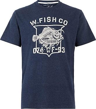 Weird Fish Skeleton T-Shirt Maritime Blue Size 2XL