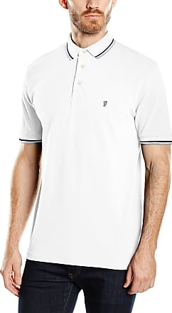 French Connection Mercerised Tipped Polo Shirt Marine//White