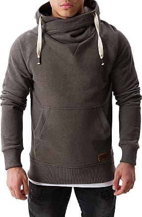 Yazubi Mens Hoody Hooded Sweatshirt Leo Soft Hoodie Sports, Grey (Castlerock 180201), XL