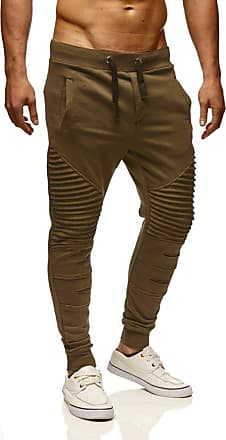 LEIF NELSON Men Sweatpants LN-9017 Khaki X-Large