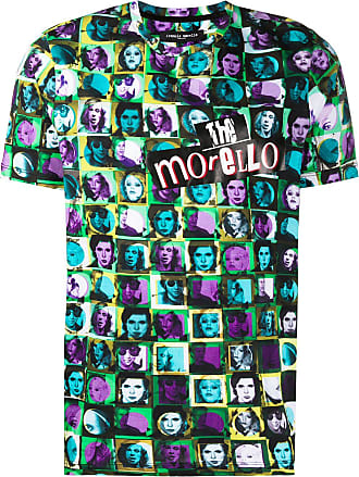 Frankie Morello Camiseta decote careca com estampa gráfica - Azul