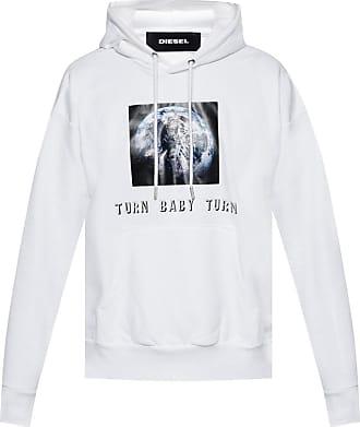 Diesel Printed Sweatshirt Mens White