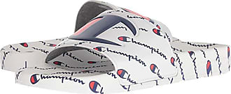 Champion IPO Repeat (White/White/Repeat) Mens Slide Shoes