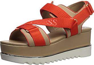 Guess Womens LAURETA Wedge Sandal, Orange, 8.5 Medium US