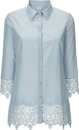 Shirt Spitzenshirt Spitzenbluse Damen creme weiß mit Spitze Gr 557 XL
