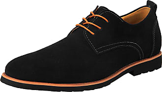 iLoveSIA Mens Oxford Leather Suede Shoes UK Size 10.5 Black (US 11.5)