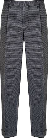 Kolor houndstooth patterned pleated trousers - Grey