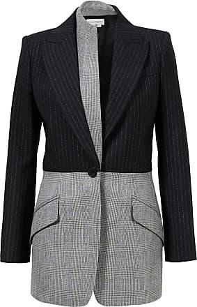 Alexander McQueen Jacket aus Mustermix Schwarz/Grau