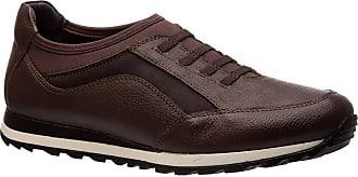 Doctor Shoes Antistaffa Sapatênis Masculino 4063 em Couro Café/Techprene Café Doctor Shoes-Café-41