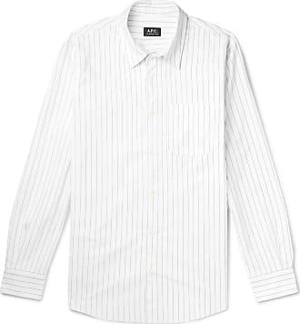 A.P.C. Jeff Pinstriped Cotton Oxford Shirt - White