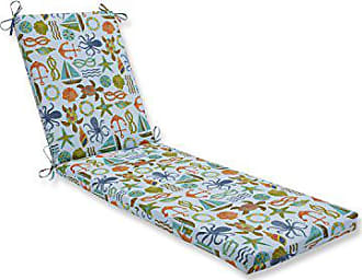 Pillow Perfect Outdoor/Indoor Seapoint Blue Summer Chaise Lounge Cushion 80x23x3