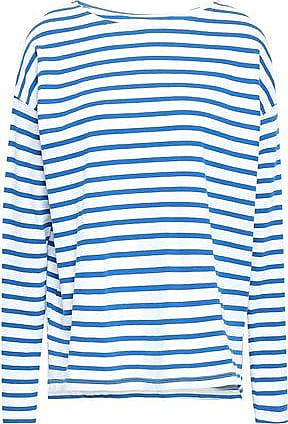 bf4e1c28bd2ae Current Elliott Current/elliott Woman Striped Cotton-jersey Top White Size 0