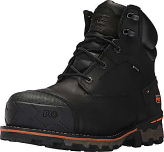 Timberland PRO Mens Boondock 6 Composite Toe Waterproof Industrial and Construction Shoe, Black Full Grain Leather, 15 M US