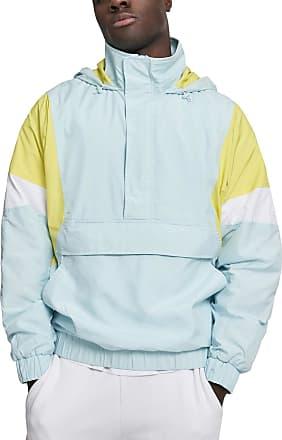 Urban Classics Mens Light 3-Tone Pull Over Jacket, Blue (Lightblue/Brightyellow/White 01714), XX-Large