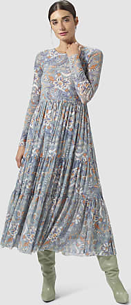 Rich & Royal Mesh-Kleid mit Blumen-Dessin