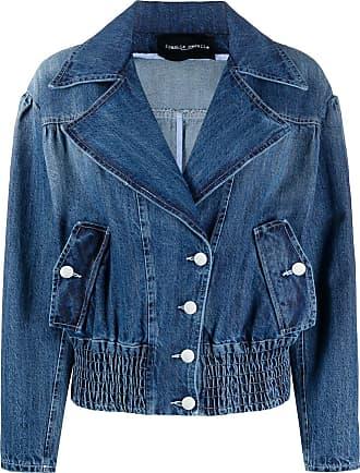 Frankie Morello Jaqueta jeans com botões e lapelas - Azul