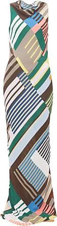 Rick Owens Scorpio Abstract-print Crepe Dress - Womens - Grey Multi