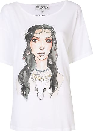 Wildfox illustrated graphic print T-shirt - Branco