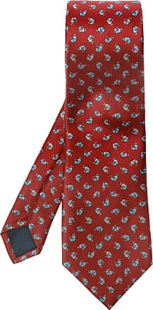 Lanvin Silk Tie Mens Red