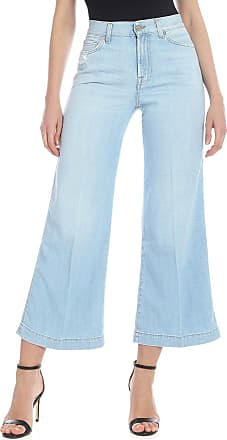 7 For All Mankind Cropped Lotta Jeans in light blue