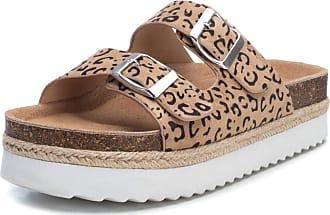 Refresh Womens Leopard Print Mule Sandals 4 Brown