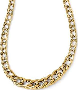 Quality Gold 14k Yellow Gold 8mm Hollow Graduated Curb Link Necklace, 18 Inch