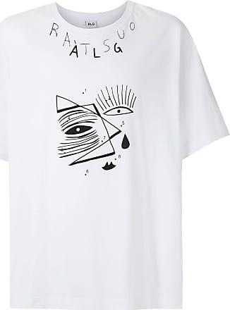 À La Garçonne T-shirt oversized estampada - Branco