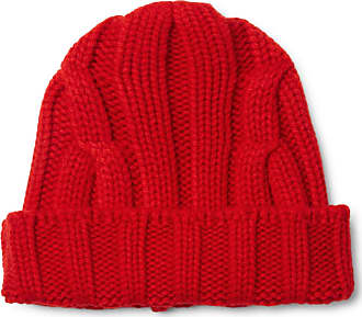 CONNOLLY Ribbed Merino Wool And Cashmere-blend Beanie - Red