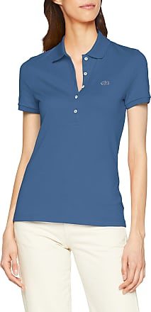 Lacoste Womens PF7845 Short Sleeve Polo Shirt,Blue (Roi Pq8),Manufacturer Size:40