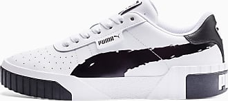 Puma Cali Brushed Womens Trainers, Black/White, size 3.5, Shoes