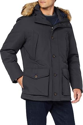 Tommy Jeans Mens Hampton Down Parka Jacket, (Jet Black Base), X-Large