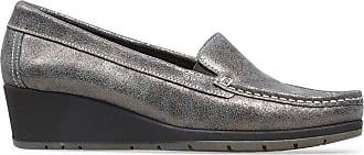 Van Dal Megan Wedge Loafers - Anthracite, Size 41 EU