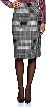 oodji Collection Womens High-Waisted Straight Skirt, Grey, UK 16 / EU 46 / XXL