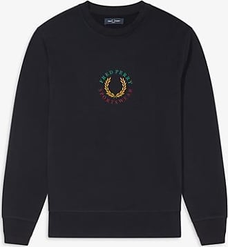 Fred Perry Fred Perry Global Branded Sweatshirt Navy - L