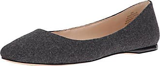 Nine West Womens Speakup Fabric Pointed Toe Flat, Heathered Wool, 6.5 M US