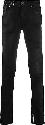 John Richmond Calça jeans skinny com efeito destroyed - Preto